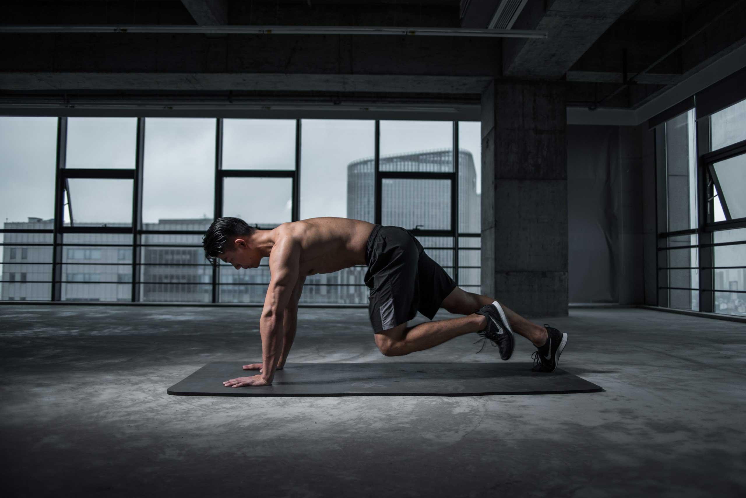 Man doing core exercises