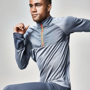 Rockay men's long-sleeved glacier blue running top - product recommendation