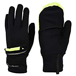 TrailHeads 2 in 1 running gloves and running mittens