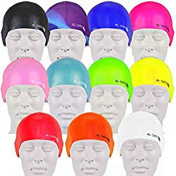 Triathlon swimming caps