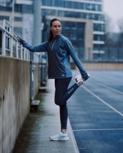 Rockay women's running tights (dolphin blue)