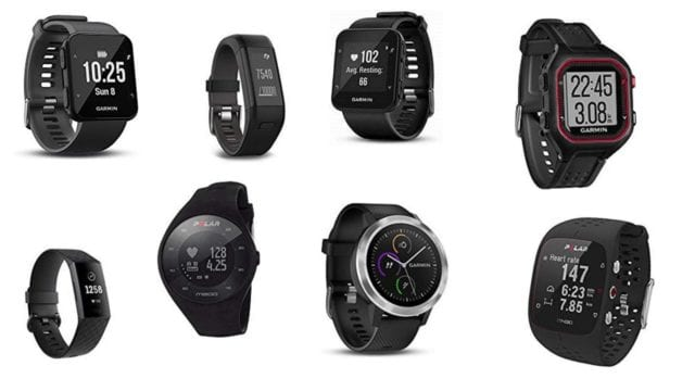 Cheap running watches displayed in the article