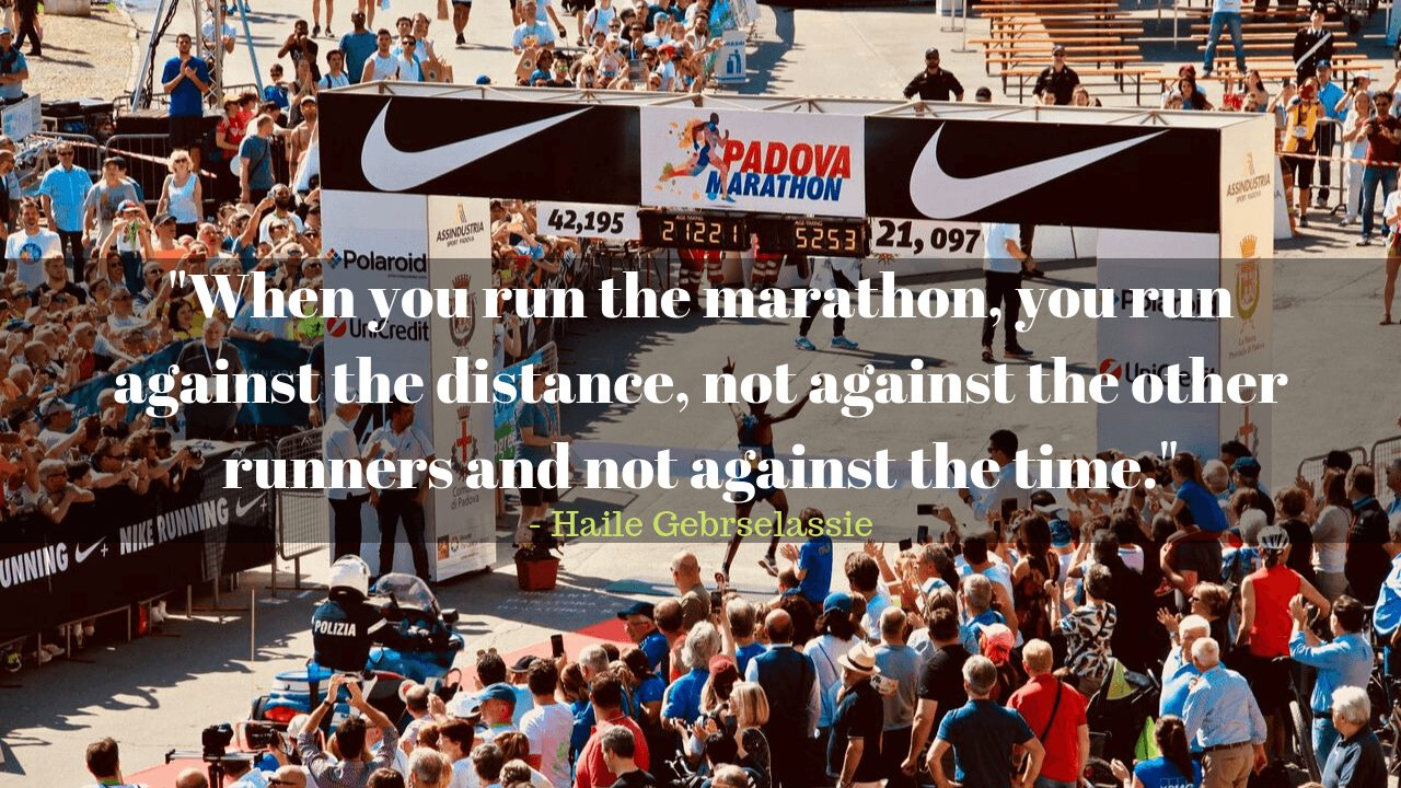 Motivational marathon running quotes