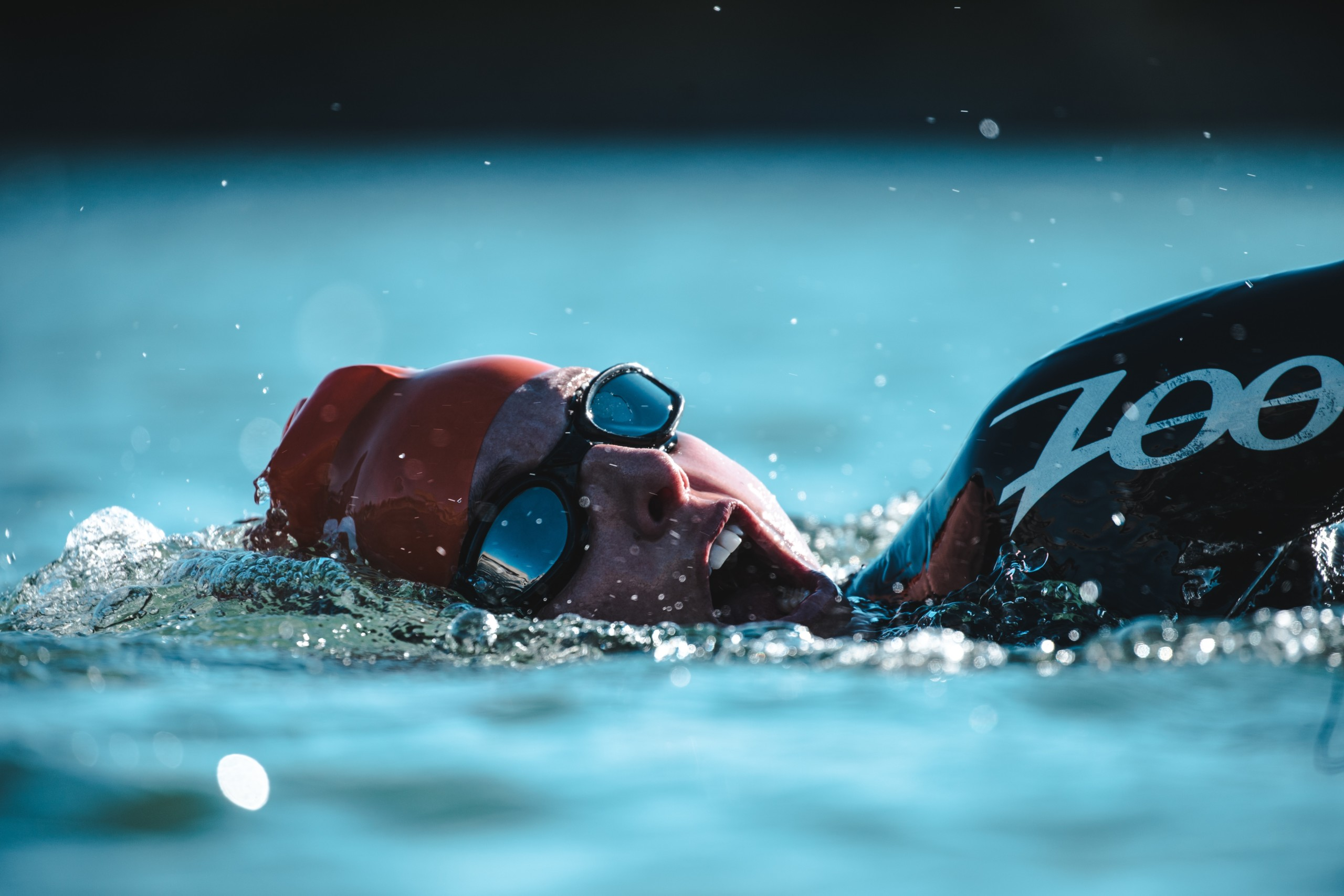 Swimming as in triathlon
