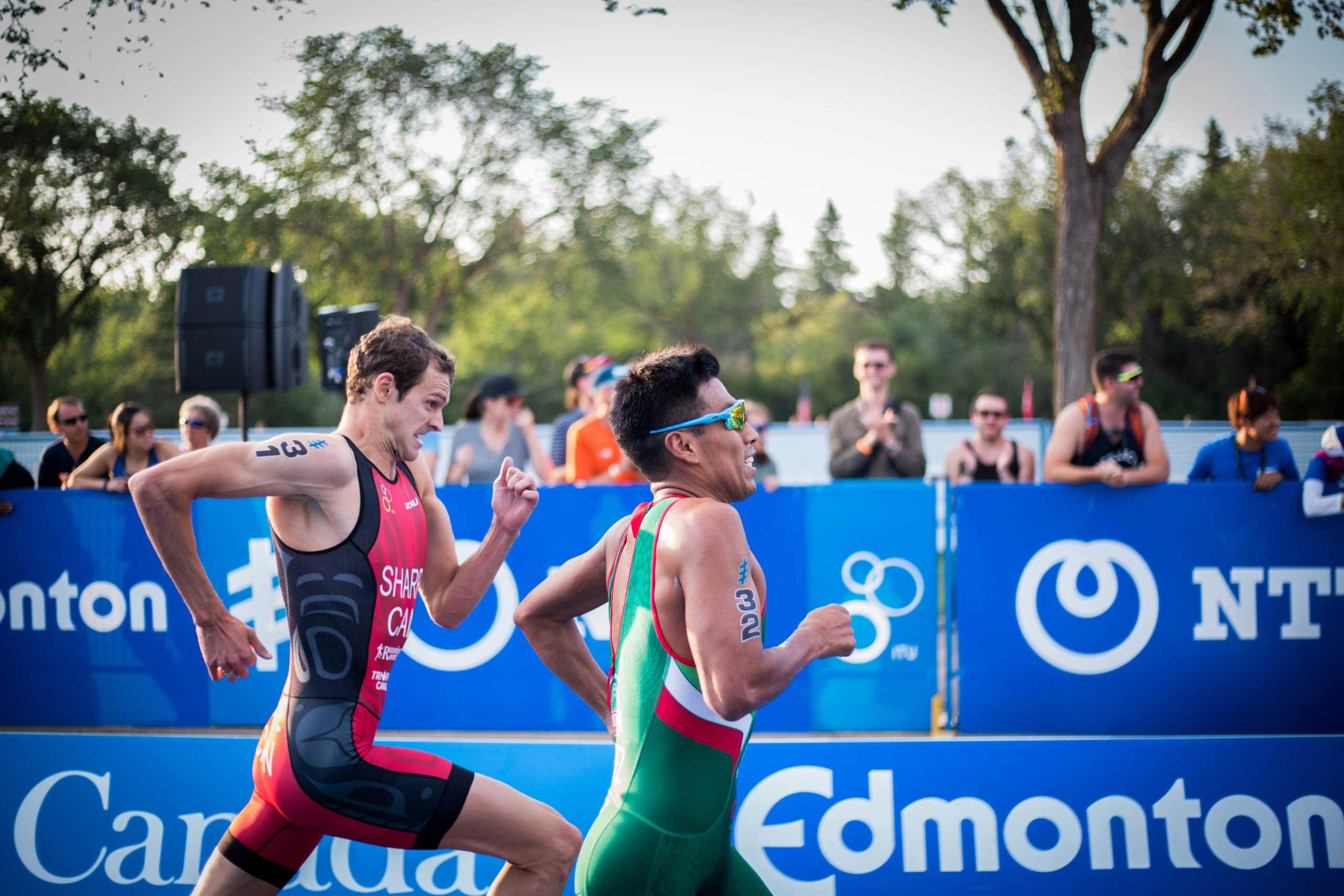 Two men running in a race
