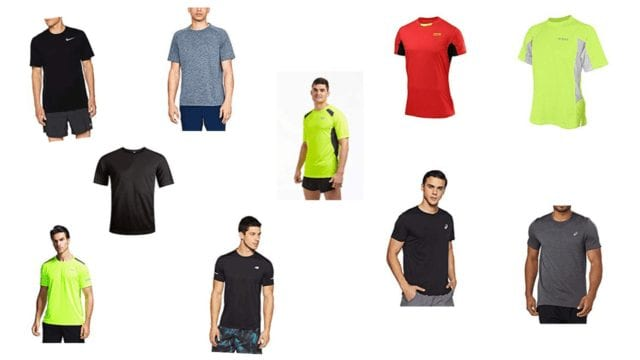 Running t-shirts as shown in this article