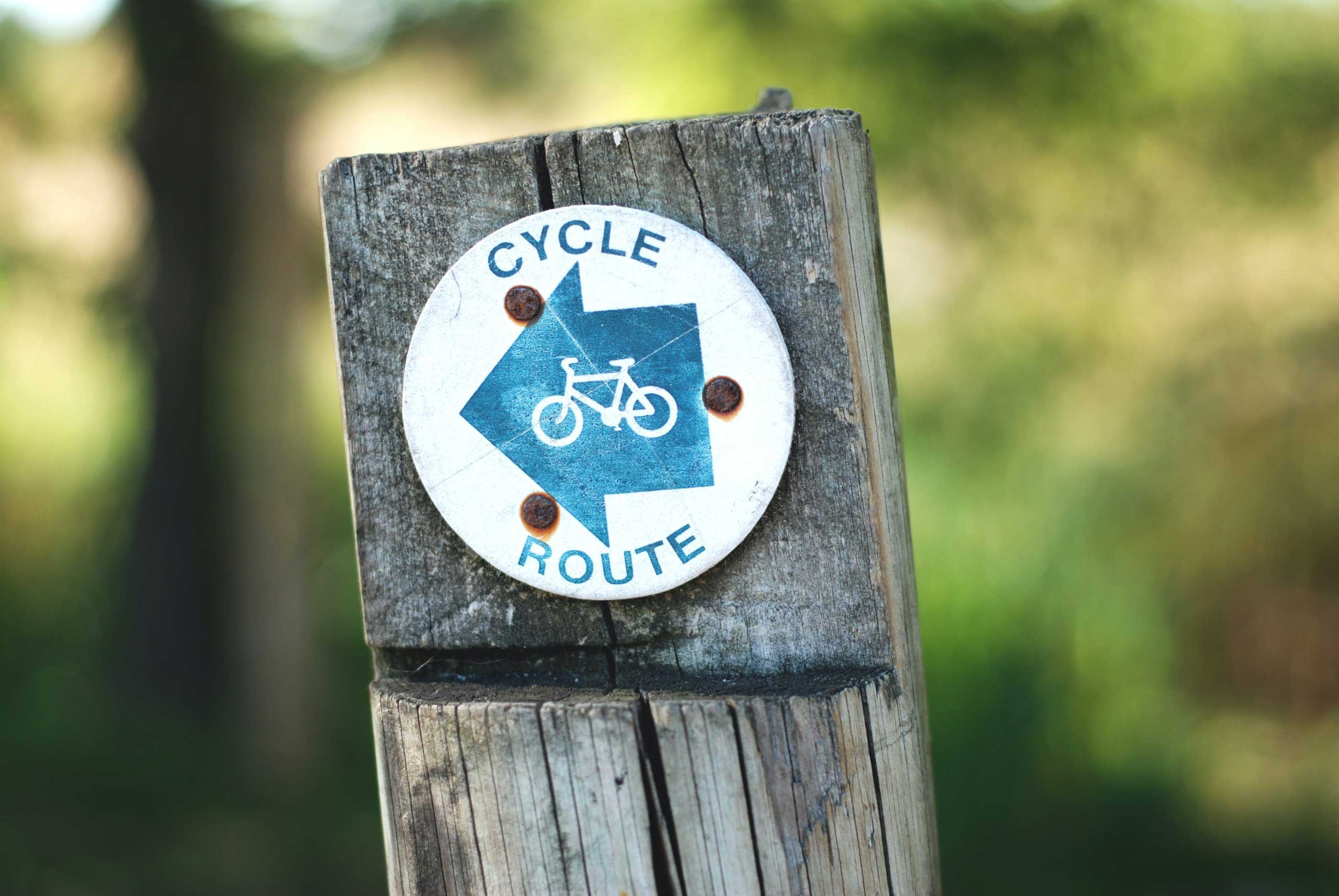 picture of cycle route sign