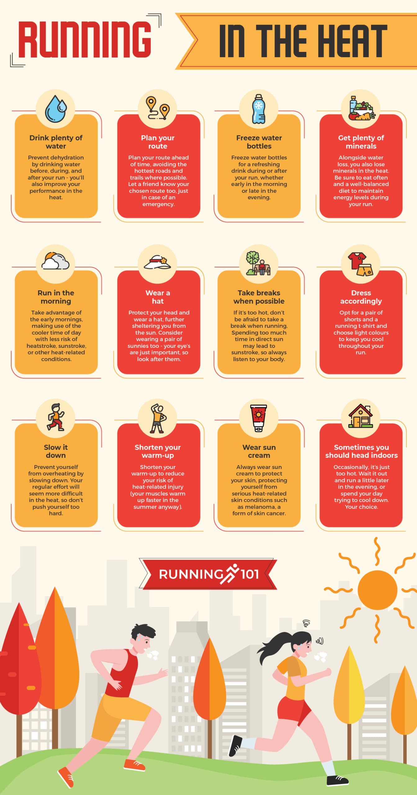 Running in the heat infographic