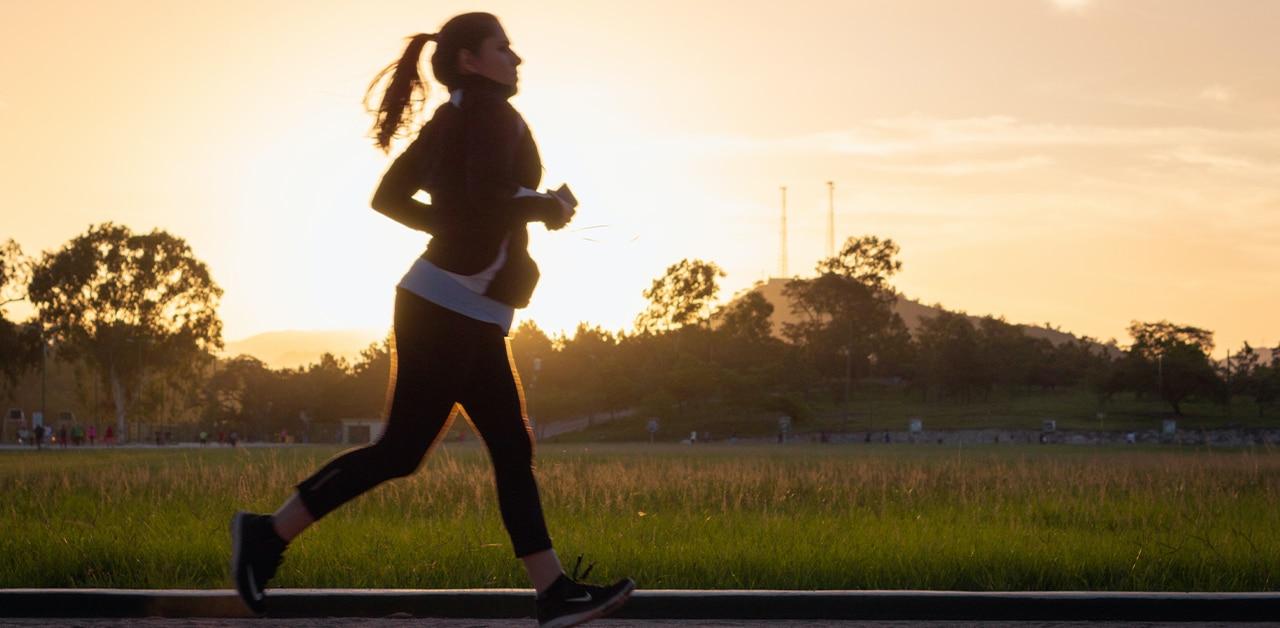 Woman running at parkrun